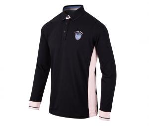 Polo Manches Longues Camberabero Tradition Noir/Rose