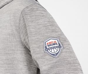 Sweat à capuche USA Basketball Gris