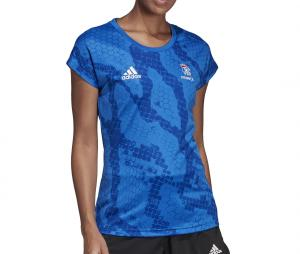 Maillot Entrainement Handball France FFHB Bleu Femme