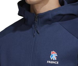 Veste à capuche Handball France FFHB Bleu