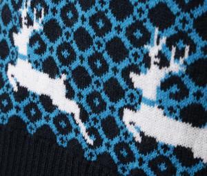 Kid's OM Pullover Blue/White