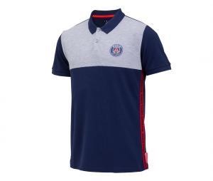Polo PSG Logo Stripes Bleu/Gris