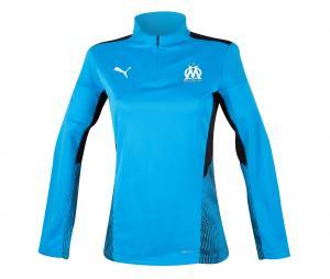 OM Quarter Zip Woman's Football Top Blue/Black