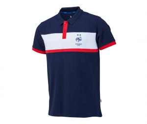 Polo France Fan Bleu/Blanc