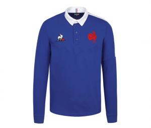 Polo Manches Longues France Rugby Replica Bleu