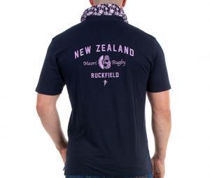 Polo Ruckfield Maori Bleu