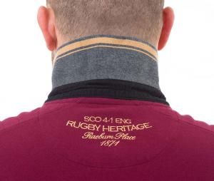 Polo Ruckfield Rugby Héritage Rouge/Gris