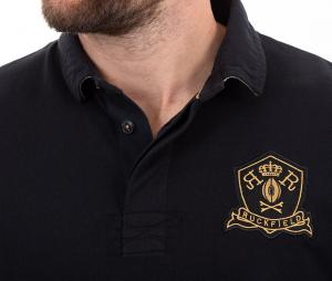 Polo Manches Longues Ruckfield Rugby Héritage Noir