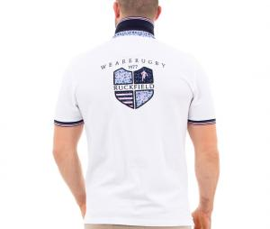 Polo Ruckfield We are Rugby Blanc
