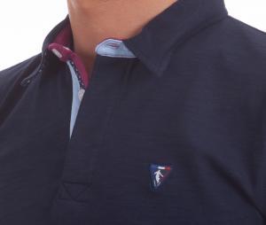 Polo Manches Longues Camberabero Héritage Bleu