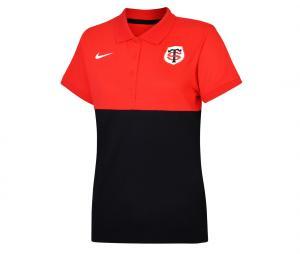 Polo Stade Toulousain Rouge/Noir Femme