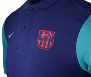Polo Barça Crew Bleu