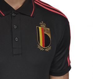 Polo Belgique 3-Stripes Noir