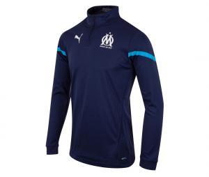 OM Pre-Match Quarter Zip Football Top Blue