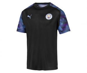 Maillot Entraînement Manchester City Noir/Bleu