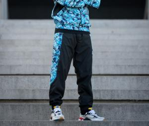 OM Woven Pants Black/Blue