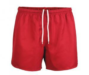 Short rugby sans poche Junior rouge