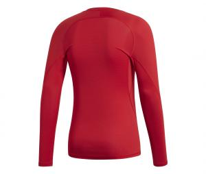 Maillot Manches Longues adidas Alphaskin Rouge
