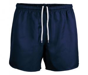 Short de rugby sans poche bleu