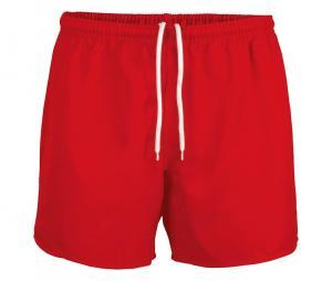 Short de rugby sans poche rouge