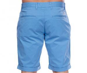 """Bermuda chino """"Les Essentiels de S. Chabal"""" bleu ciel + ceinture bleu"""