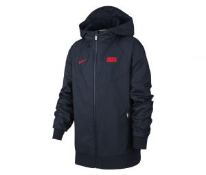 Veste  à capuche France Windrunner Bleu Junior