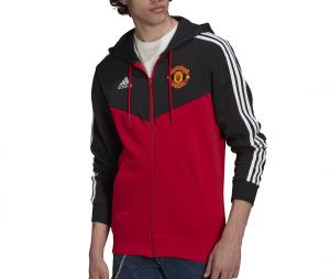 Veste à capuche Manchester United 3-Stripes Rouge/Noir