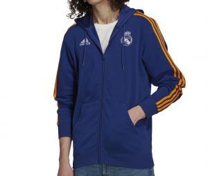 Veste Real Madrid 3 Stripes Bleu