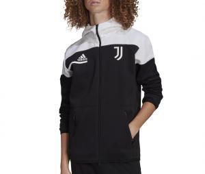 Veste à capuche Juventus Anthem Z.N.E. Noir/Blanc
