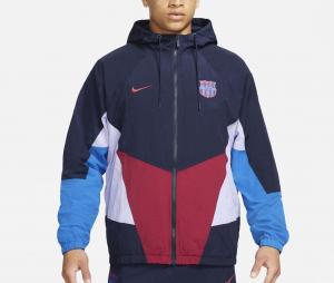Veste à capuche Barça Windrunner Bleu/Rouge/Blanc