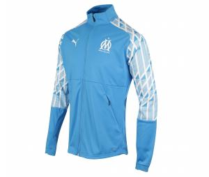 OM Stadium Kid's Football Jacket Blue