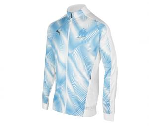 OM Stadium Men's Jacket White/Blue