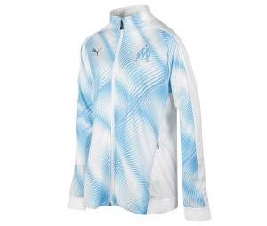 OM Stadium Woman's Jacket White/Blue