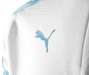 OM Fleece Men's Long-Sleeve Football Top White/Blue