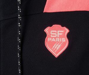 Veste à capuche Stade Français Pontormo Noir/Rose