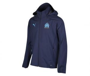 OM Men's Hooded Jacket Rain Blue