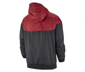 Veste à capuche AS Roma Windrunner Noir/Rouge