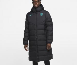 Doudoune à capuche Barça Strike Noir