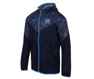 OM Warm Up Hooded Jacket Blue