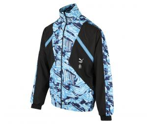 OM Woven Jacket Black/Blue