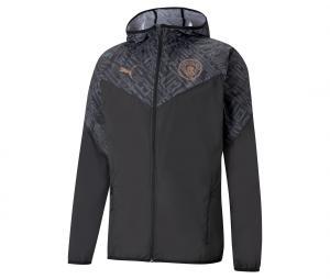 Veste à capuche Manchester City Warm Up Noir