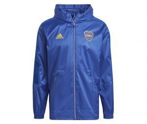 Coupe-vent à capuche Boca Juniors Bleu
