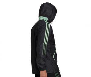 Coupe-vent à capuche Manchester United Noir