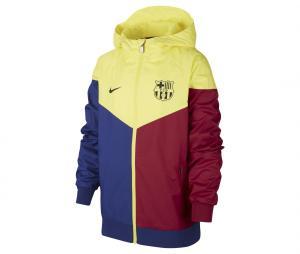 Veste à capuche Barça Windrunner Jaune/Bleu/Rouge Junior