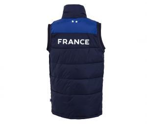 Doudoune Sans Manches France Fan Bleu Junior