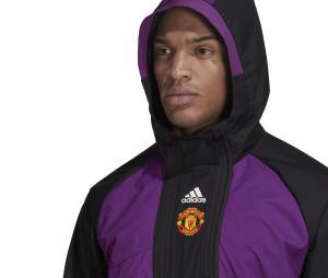Parka à capuche Manchester United Violet/Noir