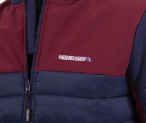Doudoune à capuche Camberabero Sport Bleu/Rouge