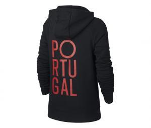 Sweat à capuche Portugal Noir Junior