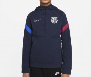Sweat à capuche Barça Travel Bleu Junior