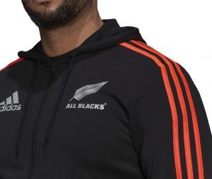 Veste à capuche All Blacks Rugby 3 Stripes Noir